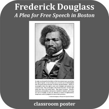 Inspirational Poster: Frederick Douglass - Free Speech