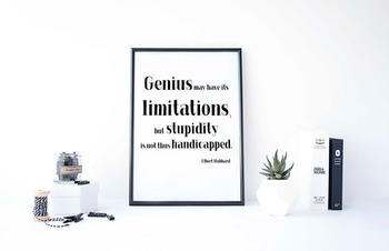 Inspirational Poster, Genius may have its limitations