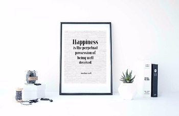 """Inspirational Poster, """"Happiness is the perpetual"""" -Jonath"""