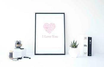 """Inspirational Poster, """"I LOVE YOU"""", VALENTINES DAY."""
