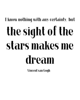 "Inspirational Poster ""I know nothing with any certainty, but the sight of the"""