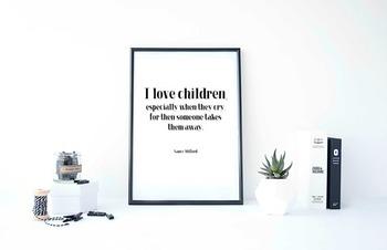 Inspirational Poster, I love children