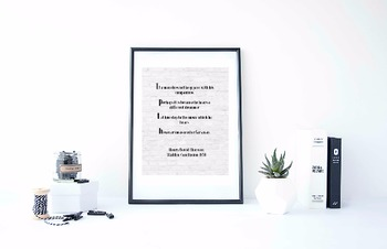 """Inspirational Poster, """"If a man does not keep pace"""" -Henry David Thoreau-"""