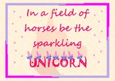 Inspirational Poster (In a Field of horses be a Sparkling