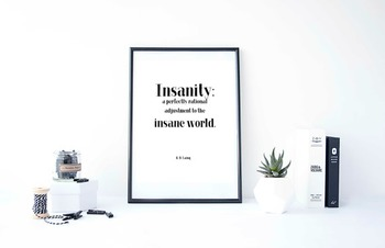 Inspirational Poster, Insanity: a perfectly rational adjus
