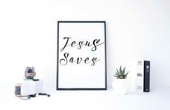 "Inspirational Poster, ""Jesus Saves"""
