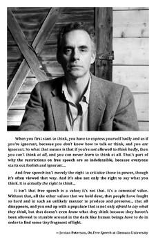 Inspirational Poster: Jordan Peterson - Free Speech