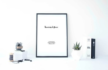 """Inspirational Poster, """"Knowledge is power."""""""