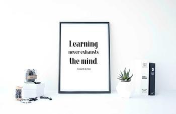 "Inspirational Poster ""Learning never exhausts the mind.""- Leonardo da Vinci"