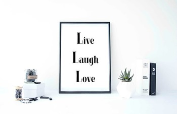 """Inspirational Poster """"Live Laugh Love"""""""