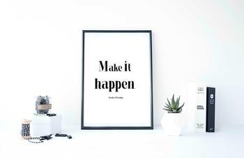 "Inspirational Poster ""Make it happen.""-Words of Wisdom-"