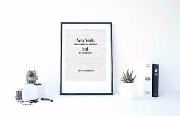 """Inspirational Poster, """"New York: where everyone mutinies"""" -Harry Hershfield-"""