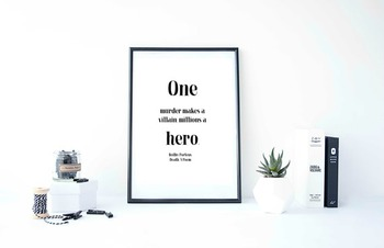 """Inspirational Poster, """"One murder makes a villain,"""" -Beilby Porteus-"""