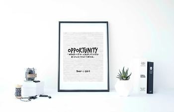 Inspirational Poster, Opportunity is missed by most people