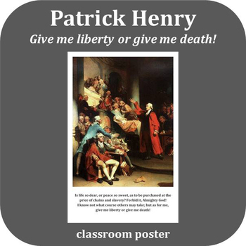 Inspirational Poster: Patrick Henry - Liberty or Death