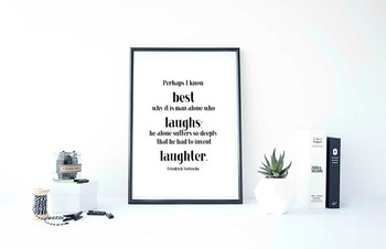 """Inspirational Poster, """"Perhaps I know best why it is man alone"""