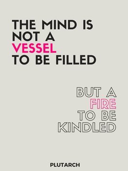 "Inspirational Poster Quote: ""fire to be kindled"" quote"