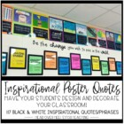 Inspirational Poster Quotes: Let Your Students Decorate & Design Your Classroom