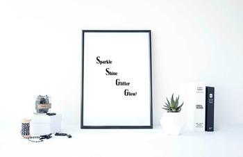 Inspirational Poster, Sparkle Shine Glitter Glow