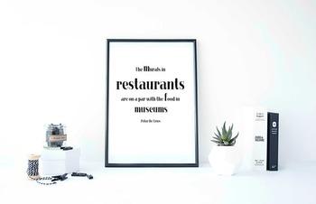 """Inspirational Poster, """"The murals in restaurants """" -Peter"""