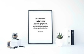 Inspirational Poster, The very purpose of existence is to reconcile the