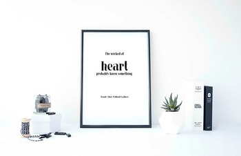 """Inspirational Poster, """"The wicked at heart probably know something."""""""