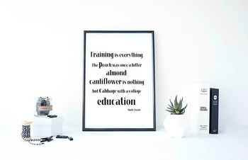 """Inspirational Poster """"Training is everything. The peach was"""