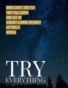 Inspirational Poster - Try Everything!