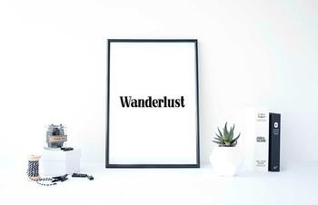 """Inspirational Poster """"Wanderlust"""""""