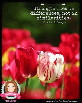Inspirational Poster for Classroom - Inspirational Quote #4 DIFFERENCE STRENGTH