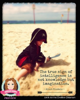 Inspirational Poster for Classroom - Inspirational Quote #1 IMAGINATION