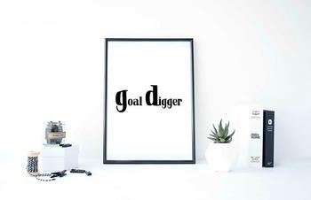 """Inspirational Poster """"goal digger"""""""