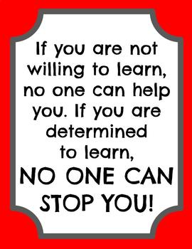 Inspirational Poster on LEARNING