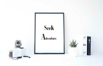 """Inspirational Poster """"seek adventure"""""""