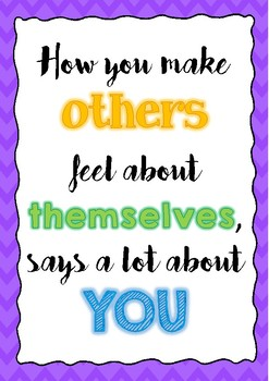 Inspirational Poster - treating others kindly