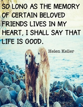 Inspirational Poster with quote from Helen Keller