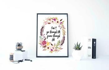 "Inspirational Poster""Don't go through life """