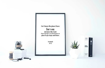 "Inspirational Poster,""For I know the plans I have for you,""  -Jeremiah-"