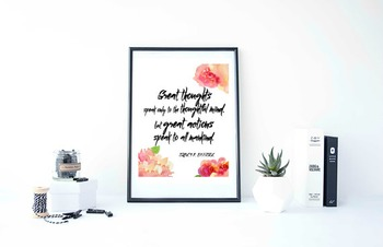 "Inspirational Poster""Great thoughts speak only to the thoughtful mind"""