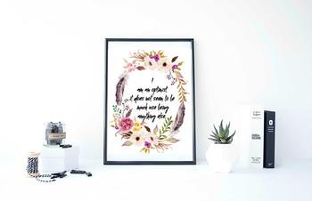 """Inspirational Poster""""I am an optimist"""""""