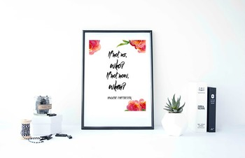 """Inspirational Poster""""If not us, who? If not now, when?"""""""
