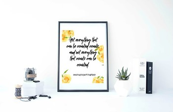 """Inspirational Poster""""Not everything that """""""
