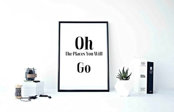 """Inspirational Poster""""Oh The Places You Will Go"""""""