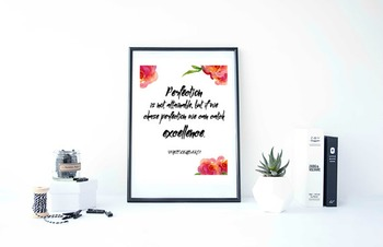 """Inspirational Poster""""Perfection is not attainable, but if"""