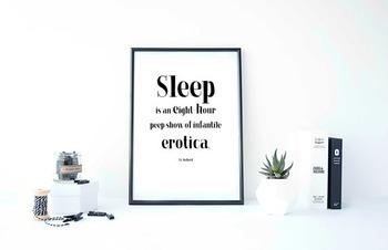"""Inspirational Poster,""""Sleep is an eight-hour"""" -J.G. Ballard-"""