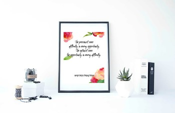 """Inspirational Poster""""The pessimist sees difficulty"""""""