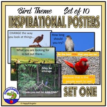 Inspirational Posters - Bird Theme Set 1