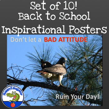 Back to School Inspirational Posters with Bird Photos Set 2