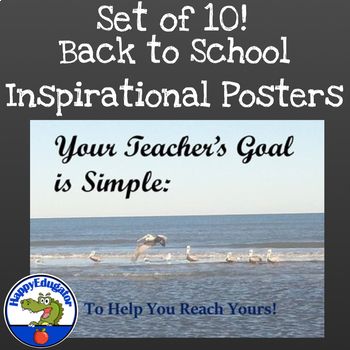 Back to School Inspirational Posters with Bird Photos Set 4