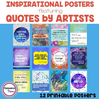 Inspirational Posters Featuring Quotes by Artists